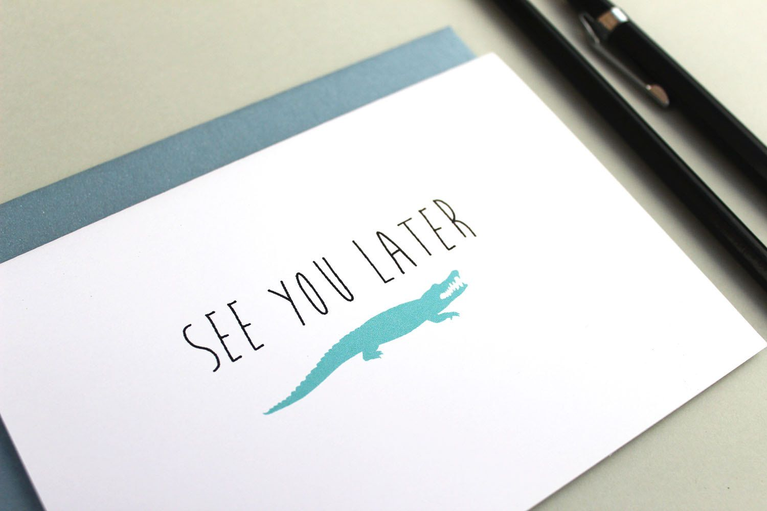 See You Later Goodbye Card by inkletpapery on Etsy ...