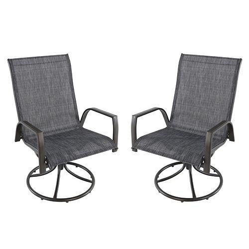 sonoma goods for life coronado swivel sling patio chair 2 piece set rh pinterest com 4 Sling Swivel Patio Chairs Manufacturer Sling Swivel Chairs