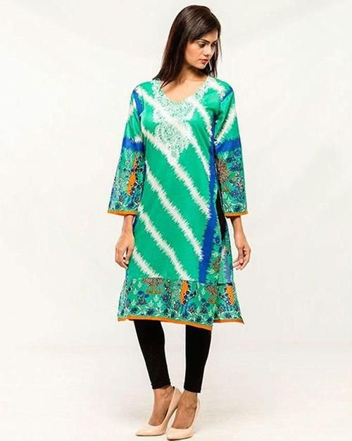 ec5b3127b30b Women Embroidered Stitched Kurti - VK – 6 - Kurti - diKHAWA Online Shopping  in Pakistan