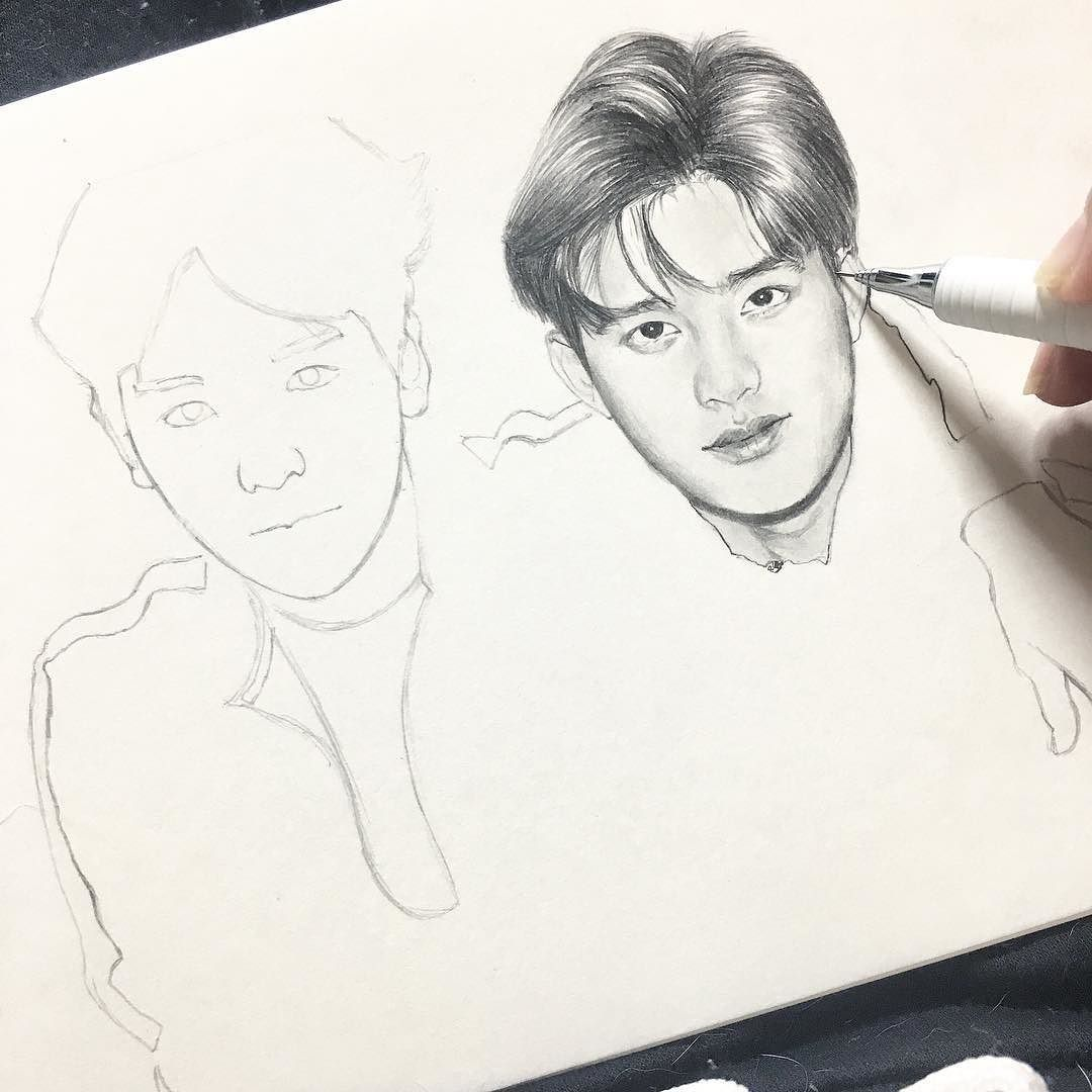 .... #instagram #인스타그램 #daily #데일리 #art #pencil #pencilart #sketch #sketching #drawing #sketchbook #exo #exok #baekhyun #kyungsoo #exofanart #illustration #instagood #좋아요 by co_usako0213