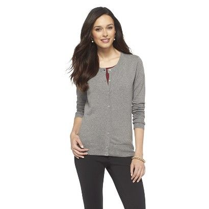 Favorite Long Sleeve Crew Neck Cardigan Sweater color: Black Size: M