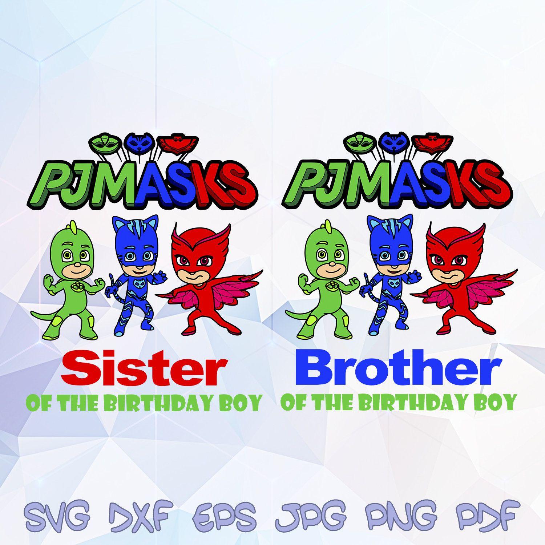 Пин на доске PJ Masks Birthday SVG