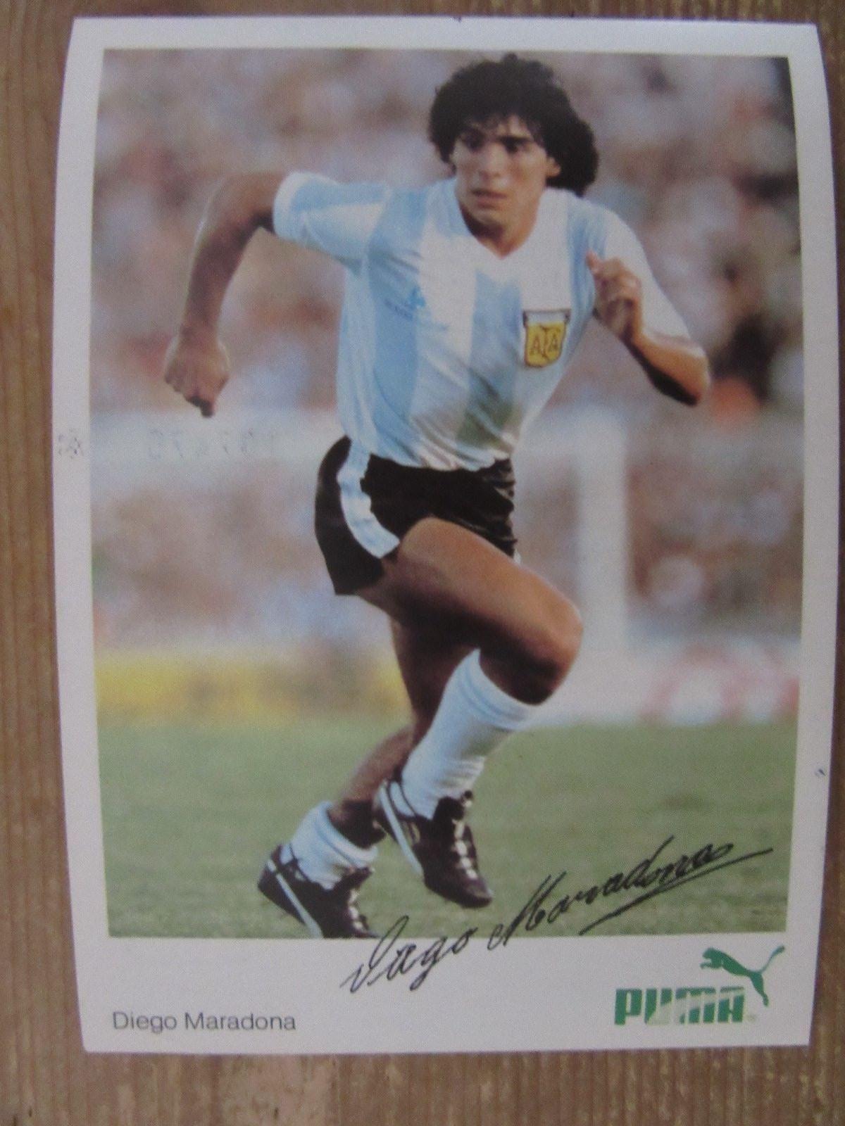 Puma 80j wm 1982 drucksigniert argentinien ssc