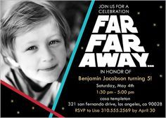 Starwars party invitation bar mitzvah star wars pinterest starwars party invitation filmwisefo Image collections