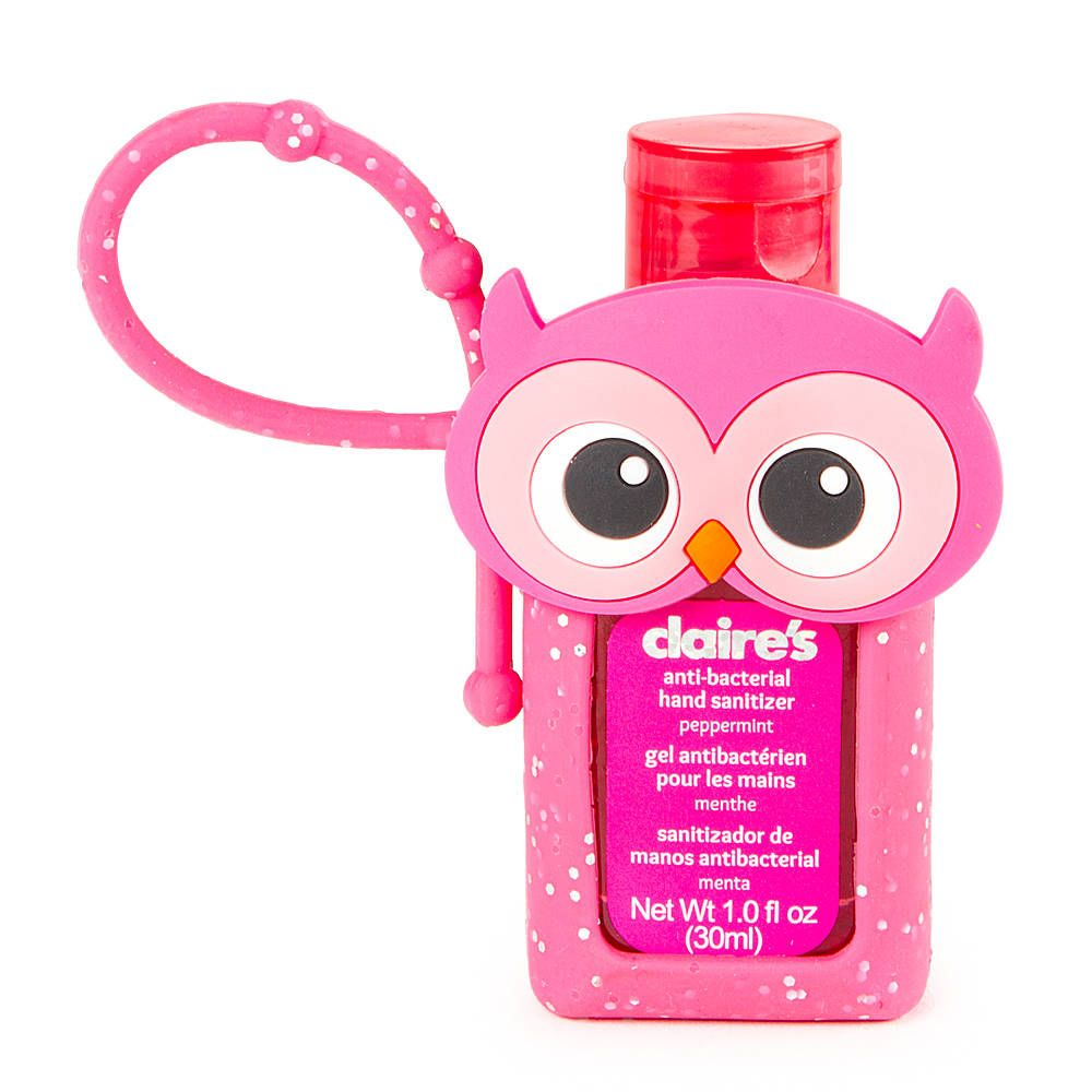 Owl Holder With Peppermint Anti Bacterial Hand Sanitizer
