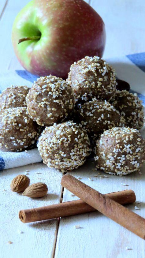 Apfel-Zimt Energy Balls #mugcake