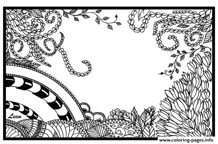 Print Zen Anti Stress Adult Leen Margot Jungle Coloring Pages
