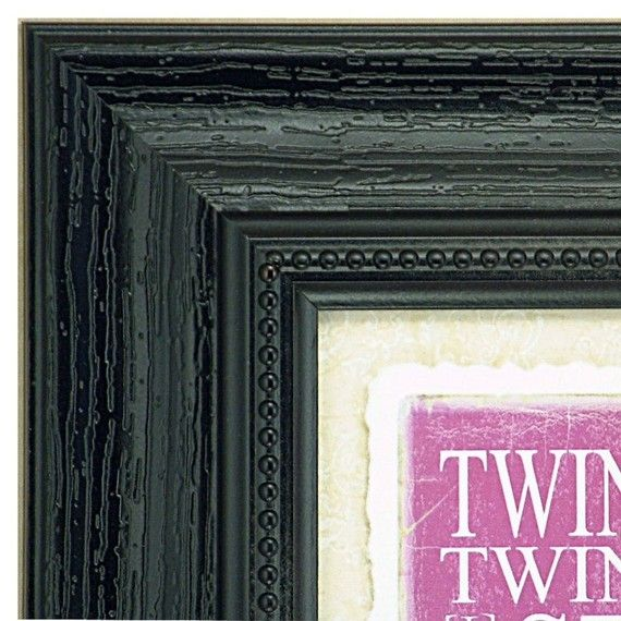 WHite cottage frame with vintage blue twinkle twinkle