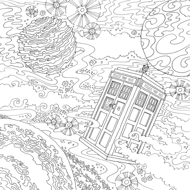 Take A Look Inside The New Doctor Who Coloring Book Coloring Pages Space Coloring Pages Coloring Books