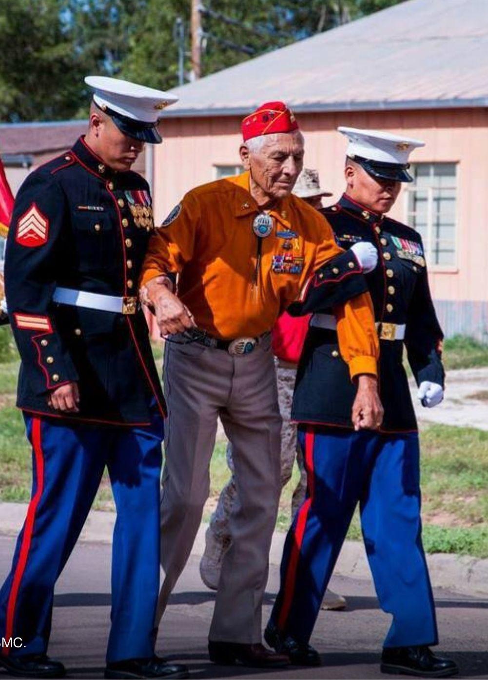 Ray Hawthorne. Navajo Code Talker. USMC<<< I believe that his name is Roy  Hawthorne because that just happens to be my great grandfather.