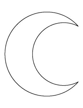 Crescent moon pattern use the printable outline for for Crescent moon coloring page