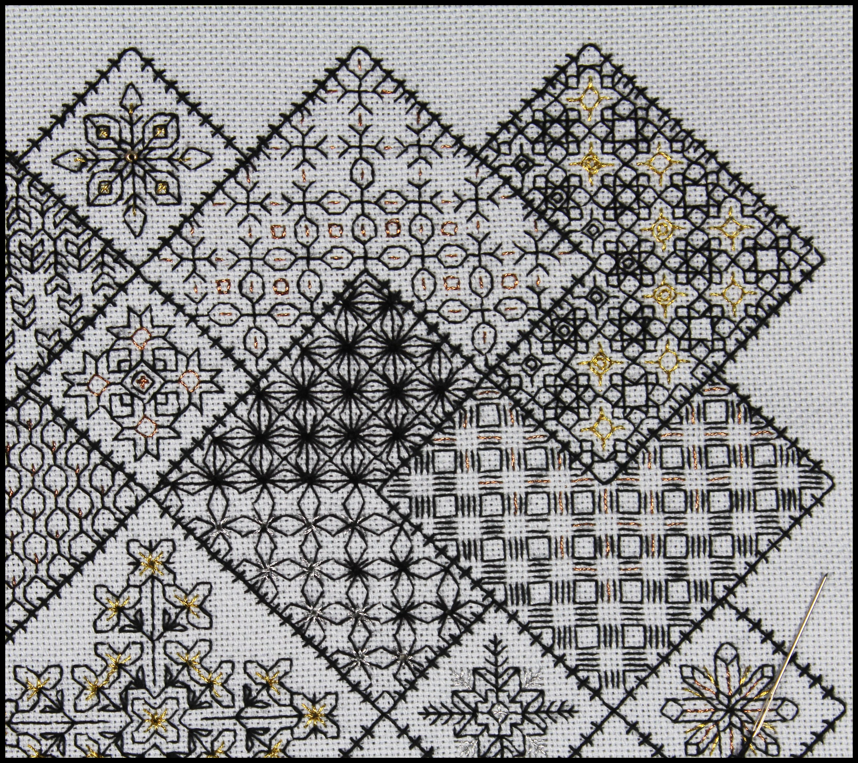 Save the Stitches Free project Block 3 embroidered - download the ...