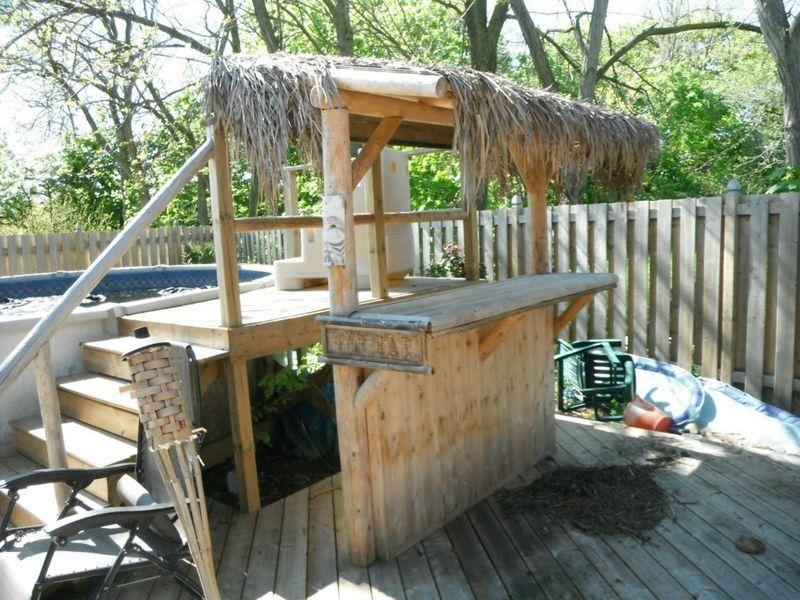 Kijiji tiki hut bar outdoor decor pinterest tiki for Beach hut design ideas
