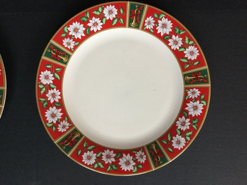 Charlton Hall Kobe Japan Classic Traditions Christmas Holiday Dinner Plates 6 : holiday dinner plates - pezcame.com
