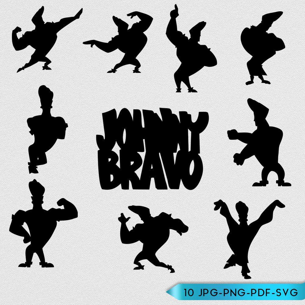 Johnny Bravo Silhouettes Images Digital Clip Art Black Silhouettes Clip Art Clip Art Design Elements Silhouette Clip Art Silhouette Images Digital Clip Art