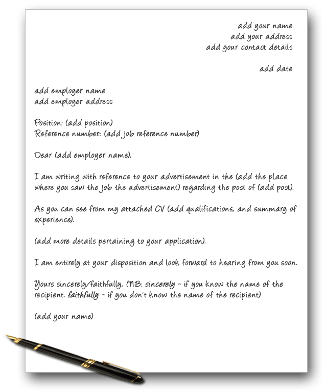 Job Reference Letter Template Uk Three Key Elements Of A Perfect Cover Letter  Writing  Pinterest .