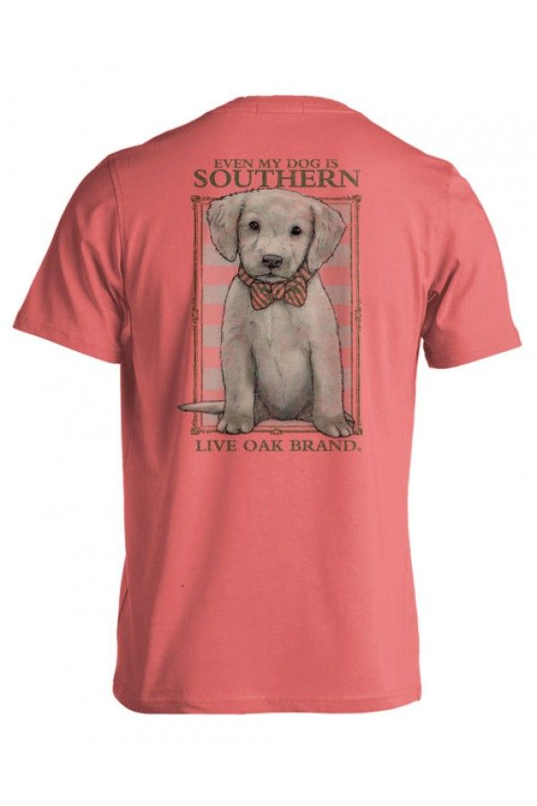 Live Oak Brand Southern Dog Lab Girlie Girl Originals Dog Tshirt