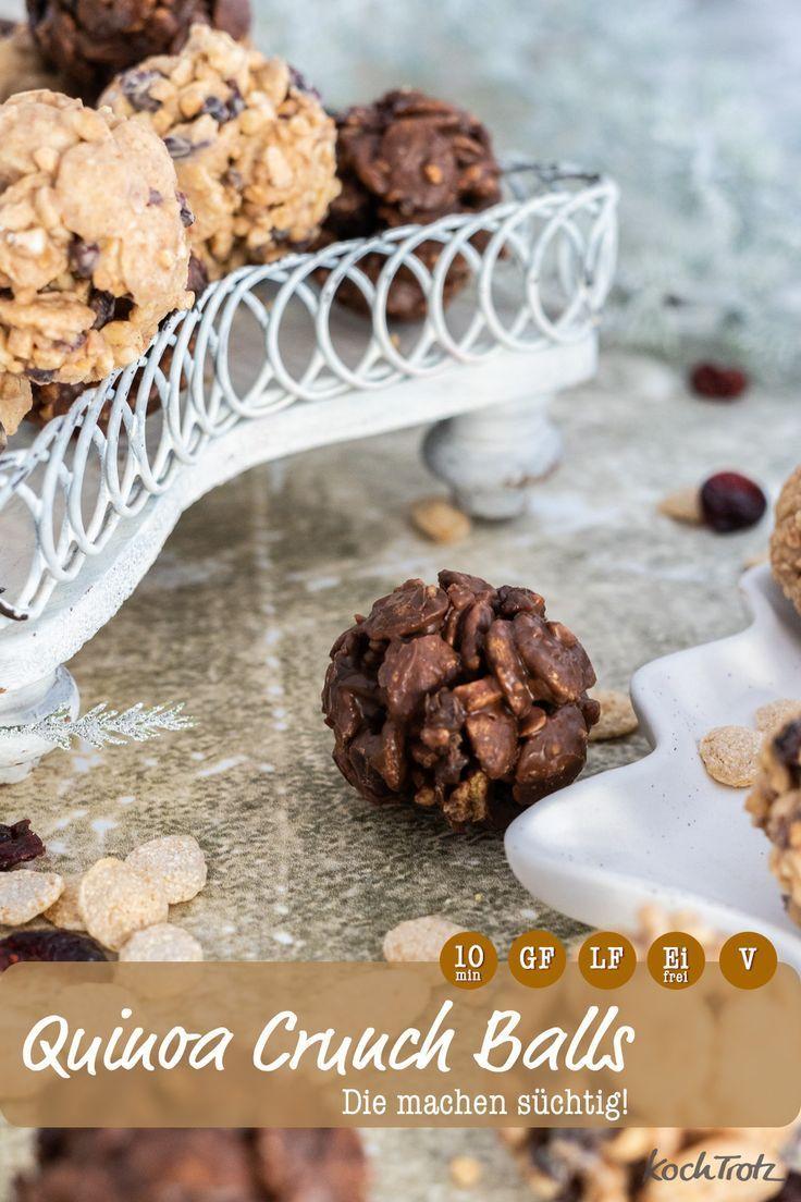 Gluten Free Quinoa Crunch Balls - KochTrotz | creative recipes -  This crispy, gluten-free treat is