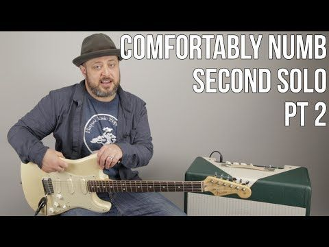 Comfortably Numb Second Solo Guitar Lesson (Pt1) David Gilmour ...