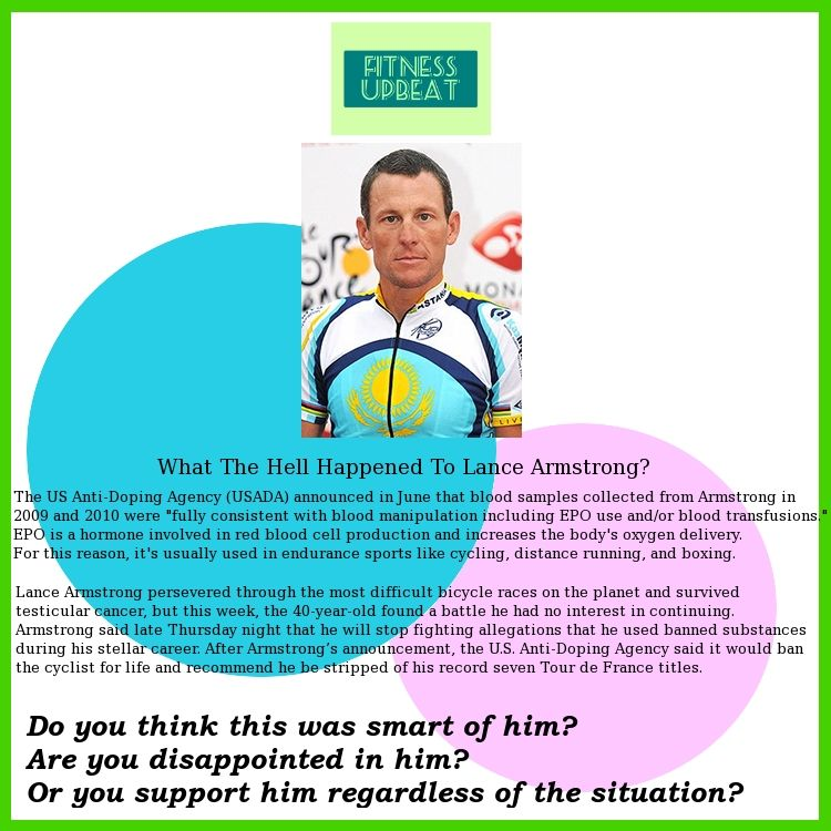thoughts on Lance Armstrong. Share them on Facebook! :)