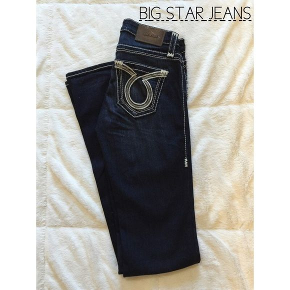 """NWOT Big Star Jeans Brand new without tags Big Star jeans. Size 25 inseam 35"""". Bootcut & dark wash. So cute! 55% rayon, 25% cotton, 18% polyester, 2% spandex.   I almost always accept respectful offers so please feel free to make one through the """"offer"""" button. Happy Poshing! Big Star Jeans Boot Cut"""