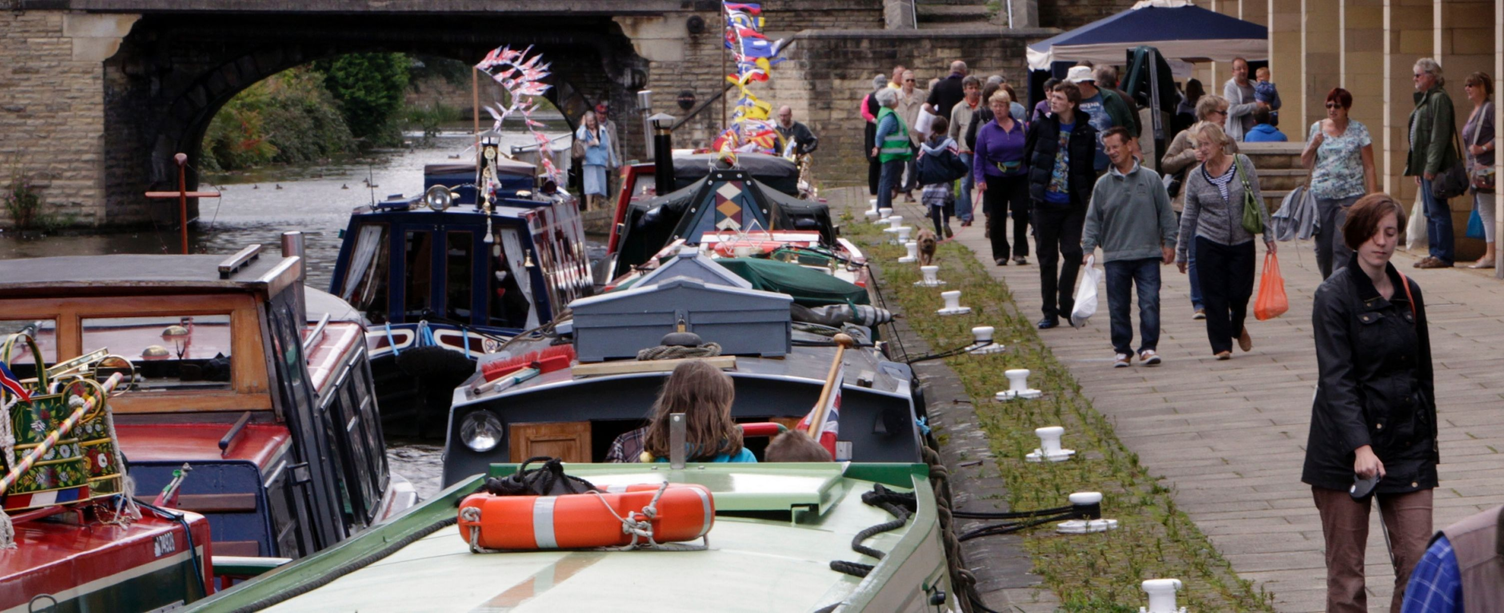 A photo from the Brighouse Canal and Music Festival 2014.