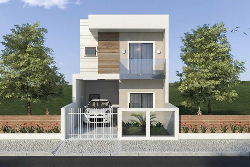 Plano de casa peque a y moderna planos de casas modelos for Fachadas de casas modernas de 6 metros