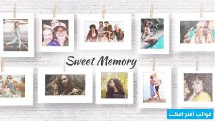 قالب افتر افكت فيديو لعرض صور ذكرياتك الجميلة قوالب افترافكت Sweet Memories After Effects Memories