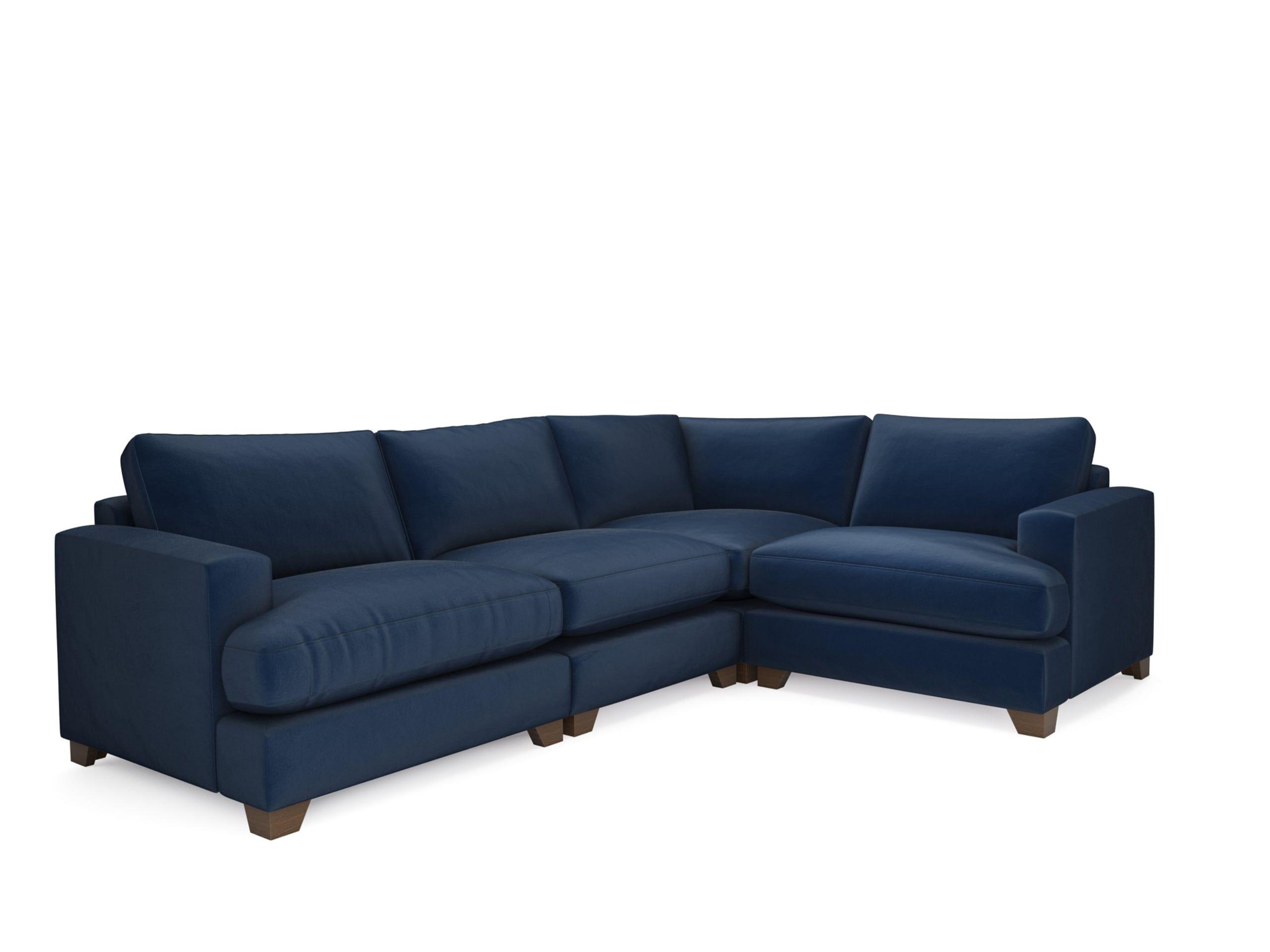 The Lounge Co Lola Corner End In Velvet Touch Midnight Indigo Theloungeco Trend Indigo Navy Sofa Living Room Blue Corner Sofas Corner Sofa Living Room