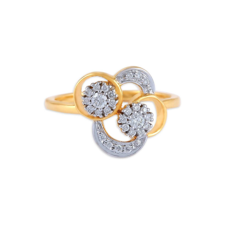 Buy Tanishq 18 KT Gold Finger Ring Diamond Studded ID 503414FDELAA02