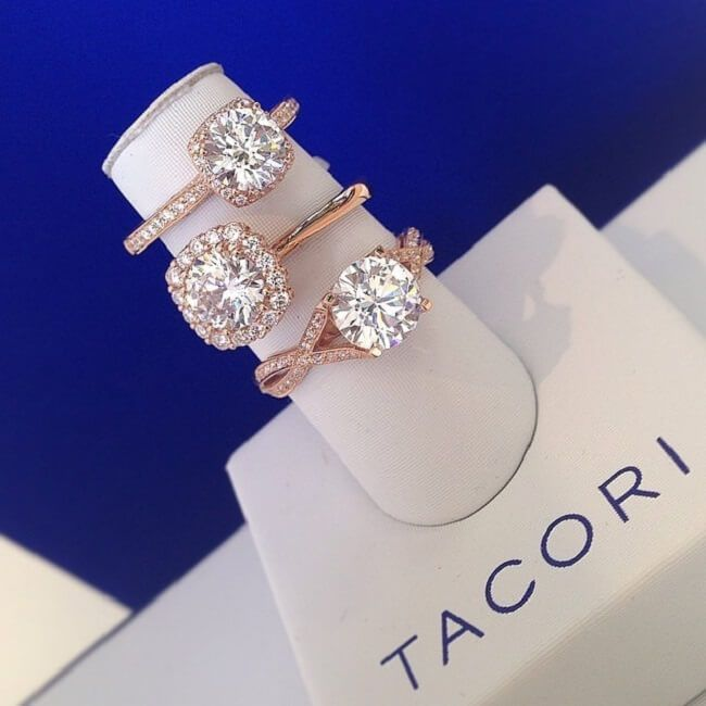 Rose Gold Engagement Rings Tacori Wedding Rings Rose Gold