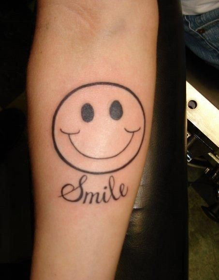 happy smile tattoo tattoos possible pinterest face tattoos tattoo designs and tattoo. Black Bedroom Furniture Sets. Home Design Ideas