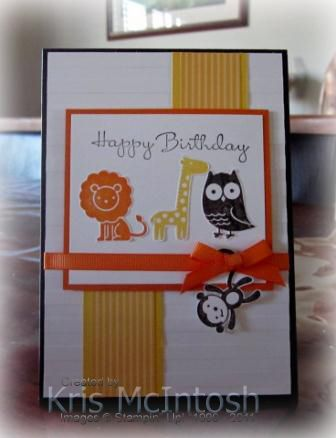 Fox & Friends Birthday by krismac - Cards and Paper Crafts at Splitcoaststampers