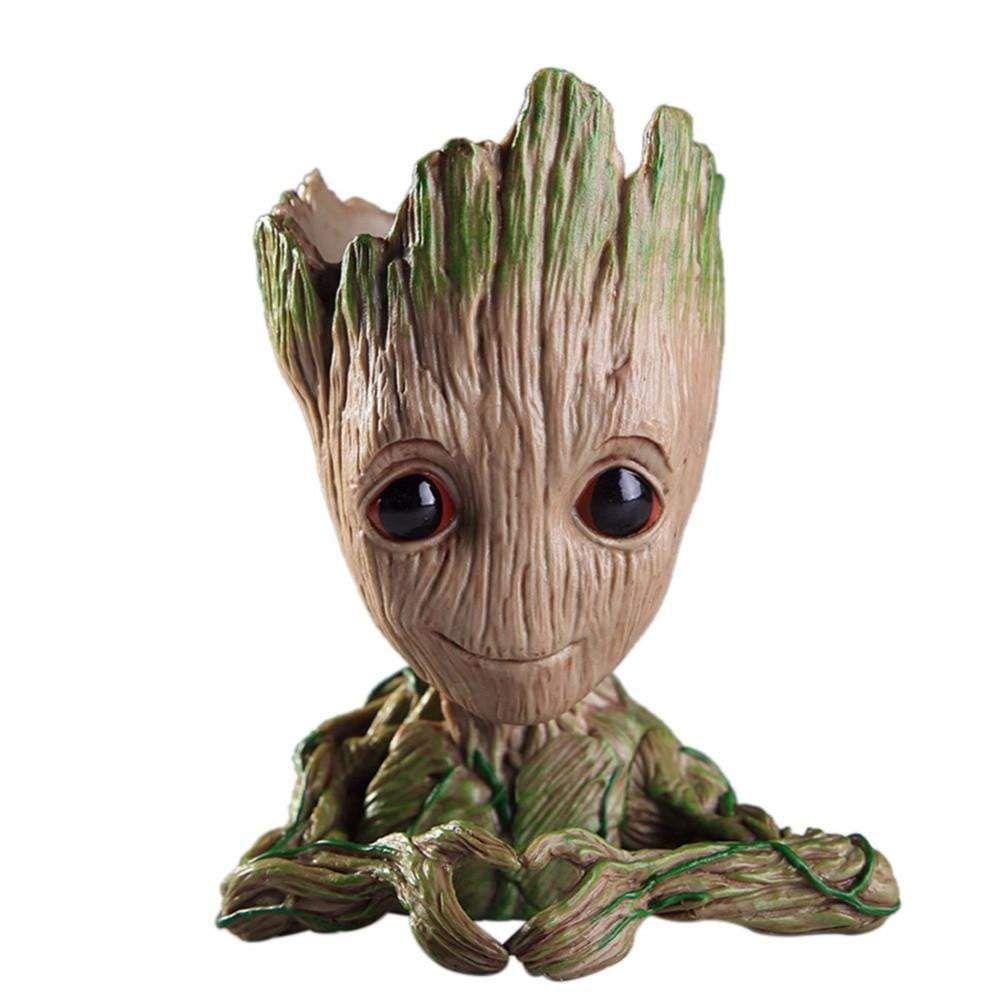 Groot Planter Tree Man Flower Baby Pot Guardians of The Galaxy Pen Holder Figure