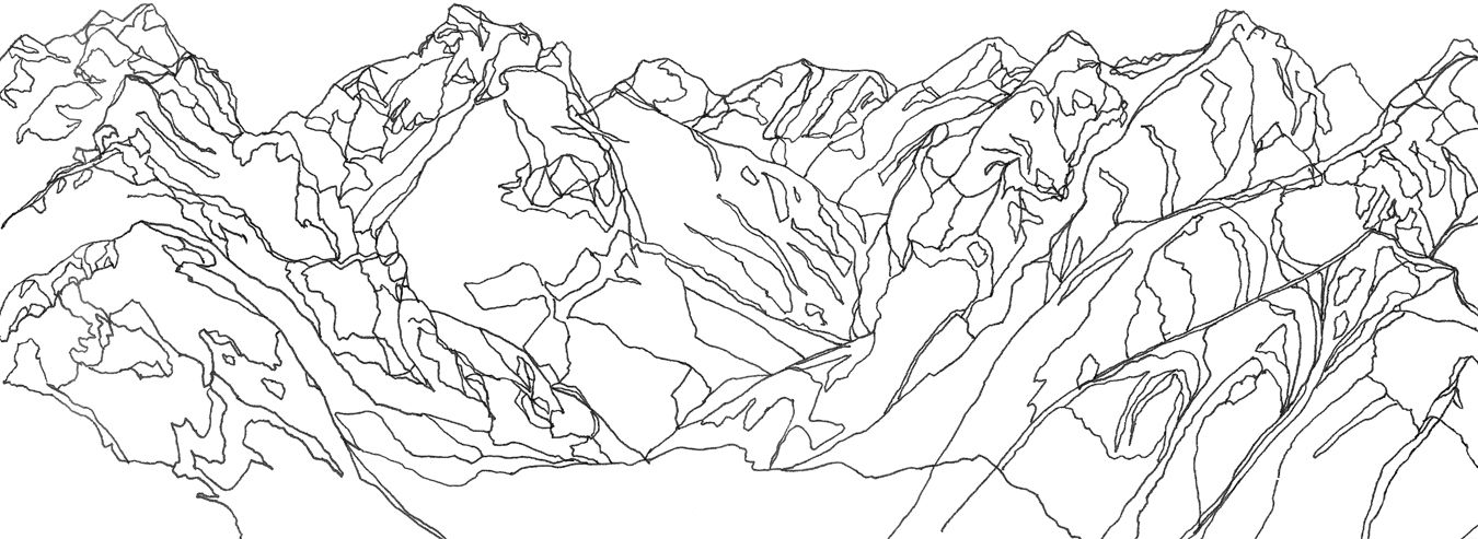 Image result for mountain line drawing