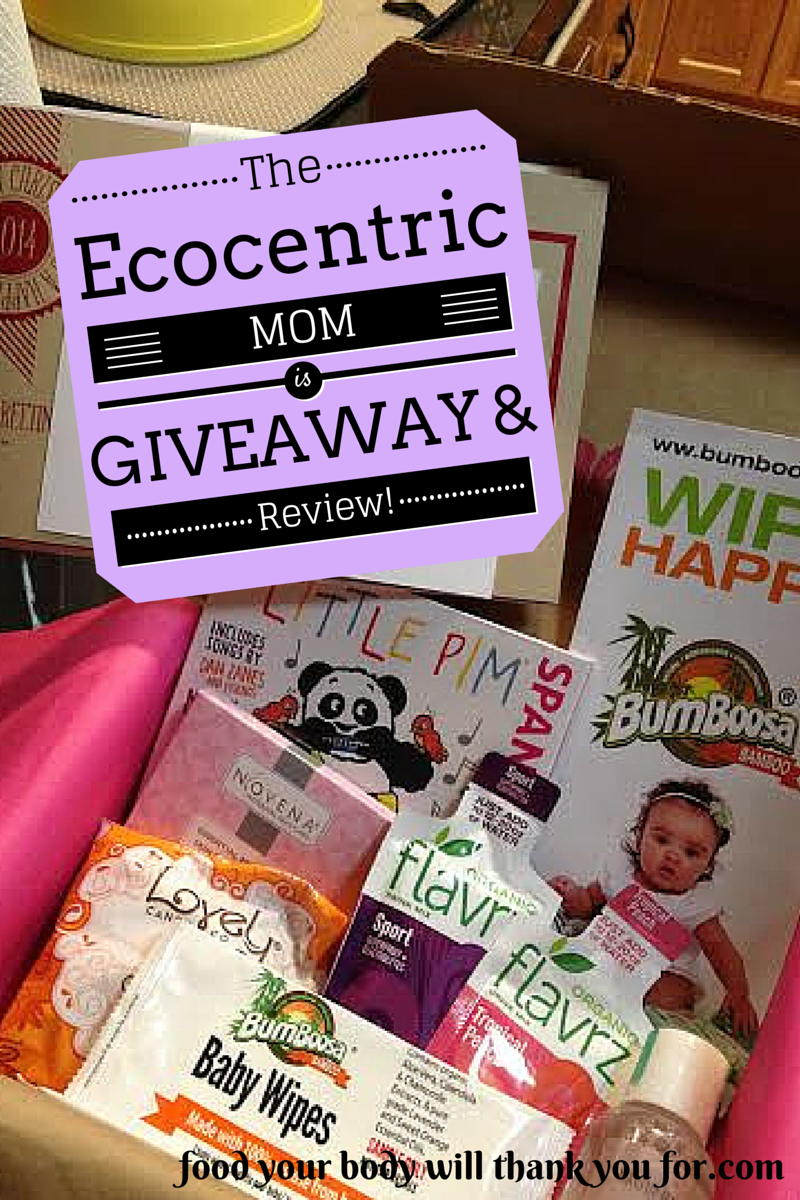 Recently I discovered a great new company that is right up my foodie, mama alley: Ecocentric Mom.And they totally accommodated my GF lifestyle!  It's kind of like a CSA for the ladies. The subscriptions are goodie boxes delivered every other mo...