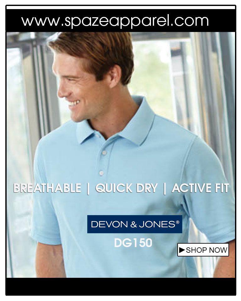 Devon /& Jones DG150 Mens Drytec20 Performance Polo