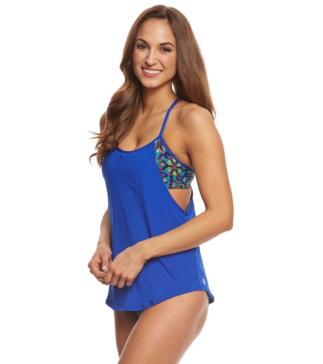 c69bede3d4 $45 TYR Women's Edessa Shea 2 in 1 Tankini Top at SwimOutlet.com – The  Web's most popular swim shop