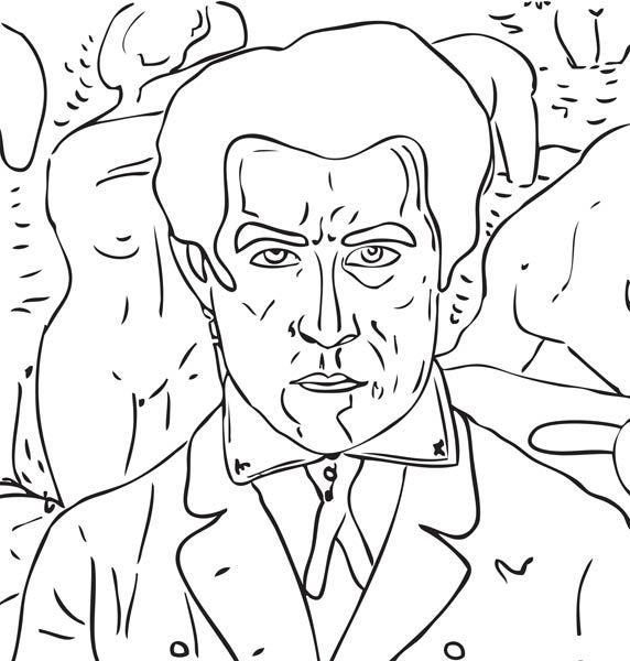 Kazimir Severinovitch Malevitch Coloring famous