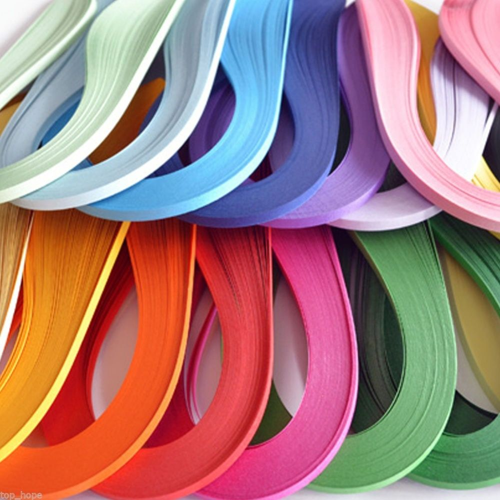 Handmade 120 Stripes 5mm Width Quilling Origami Paper Solid DIY Tool Gift Pretty