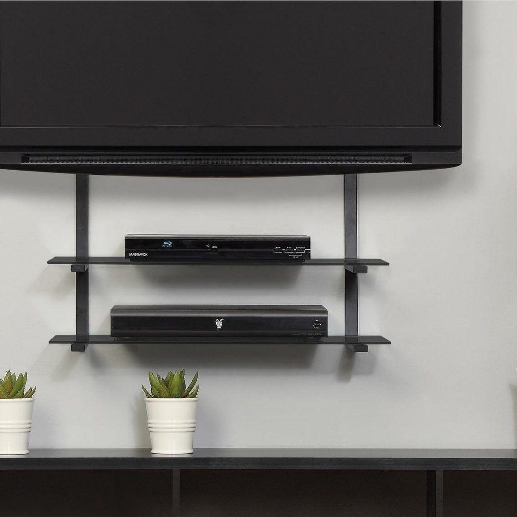 Wall mount with shelf for flat screen tv swivelstandfortv swivel