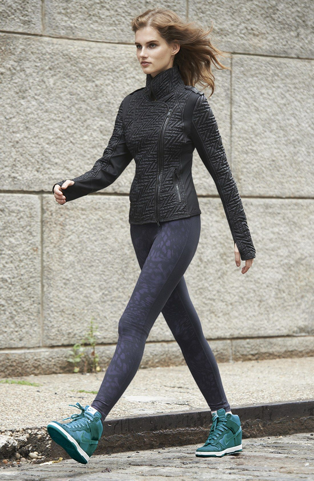 Zella 'Split Leopard - Live In' Leggings | Nordstrom · Fitness  ClothingFitness ...