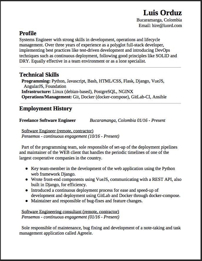 devops resume introduction