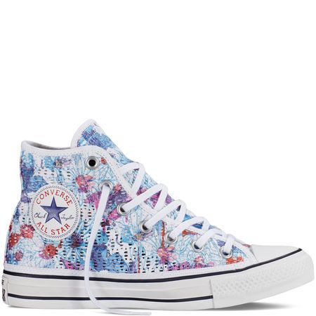 460d2aedef06 Converse - Chuck Taylor All Star Floral Crochet - Spray Paint Blue - Hi Top