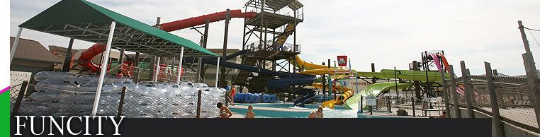 Burlington, Iowa. FunCity. Good place to take a fun night - The kids will love our over 100 interactive arcade games, kiddie go-carts and multi-level laser tag arena while you relax in our 22 person hot tub or take the plunge down Koozmickie Falls!