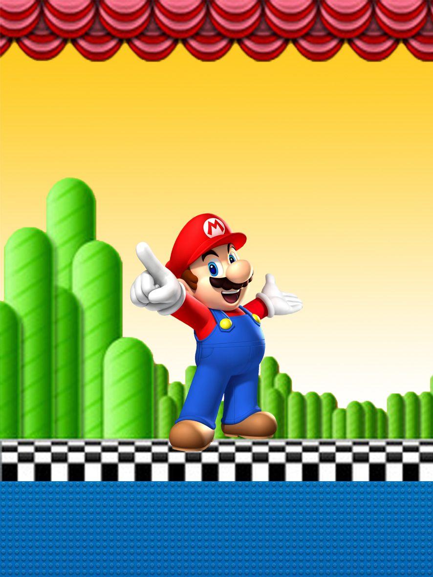Kit digital para impressão Super Mario Bros | Mário bros ...