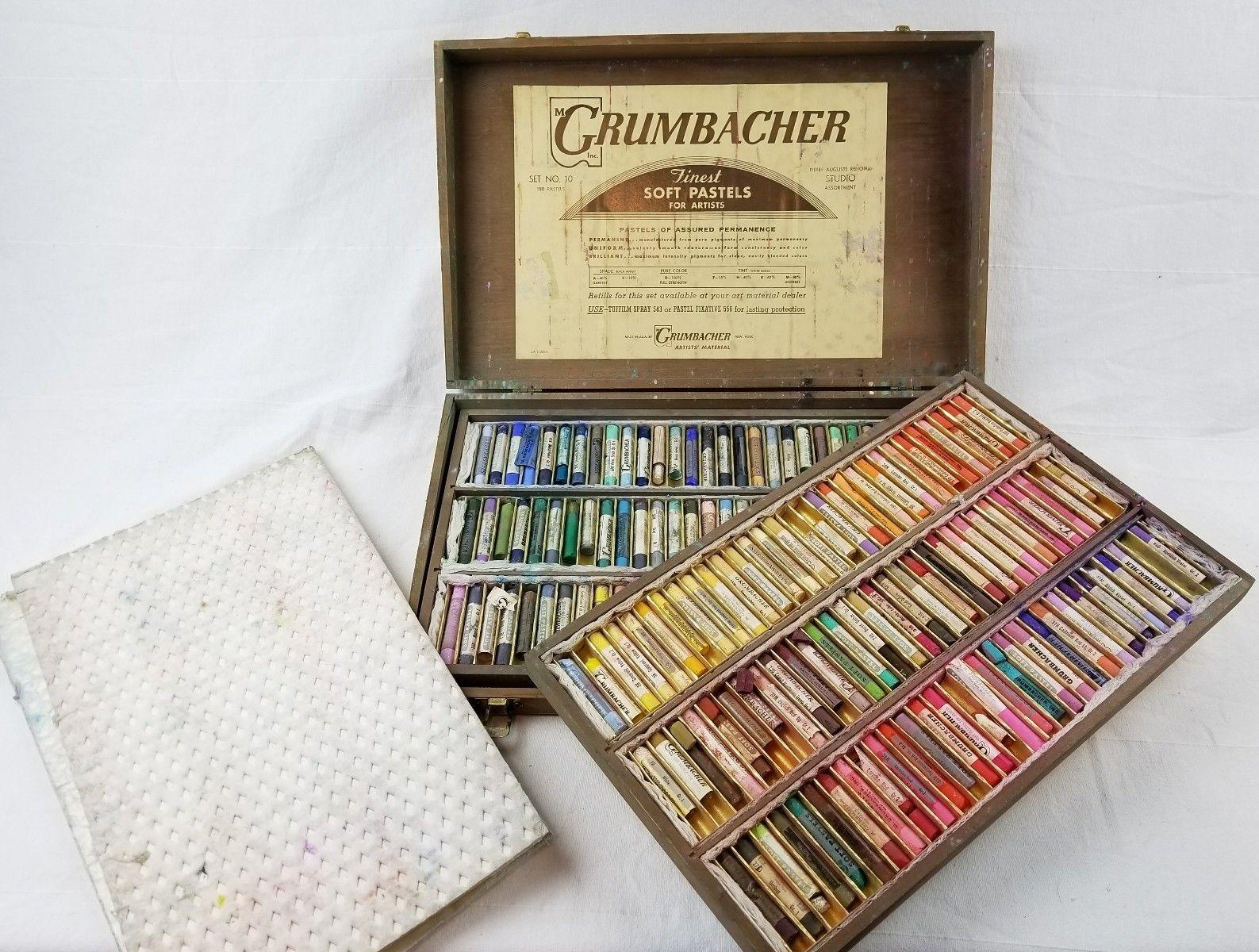 Details About Vintage Grumbacher 24 Assorted Soft Pastels Set No