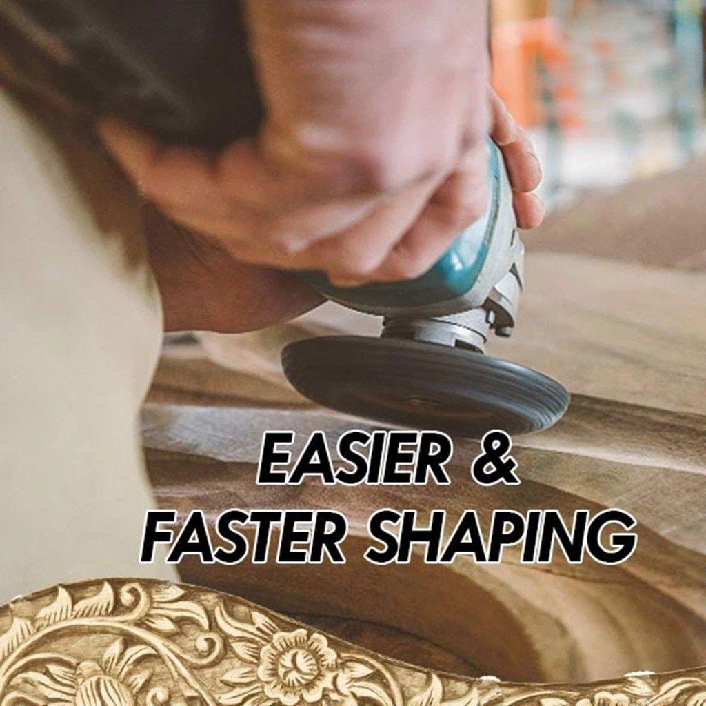 SharpShaper Tungsten Carbide Grinding Wheel Wood Shaping Grinder Wheel #woodcarvingtoo