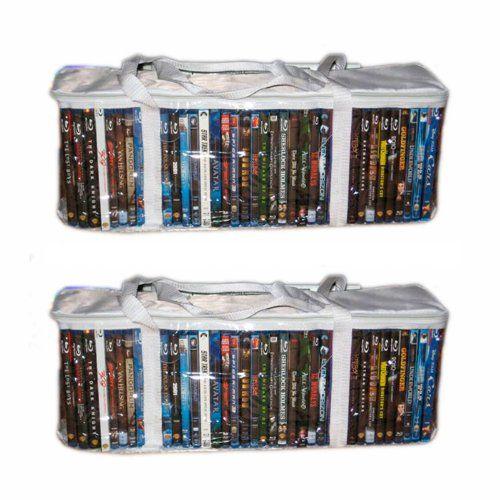 Set Of 2 Dvd Storage Bag Organize 12 99