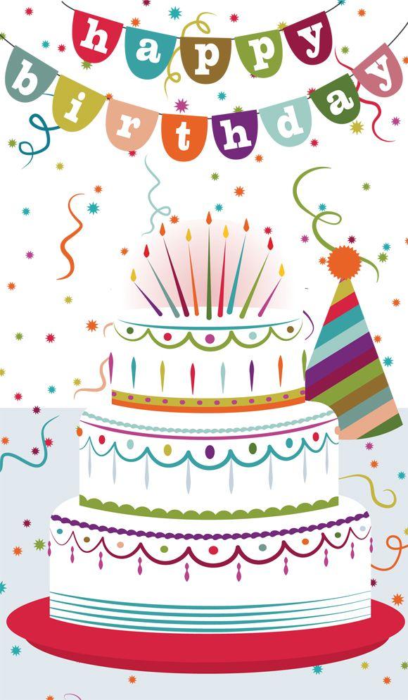 Card Birthday Cake Birthday Cake Greeting Card Happy Birthday